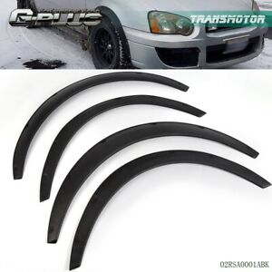 4pcs Universal Fender Flares Flexible Durable Black Fenders Polyurethane For Car