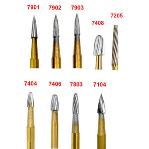Dental Trimming Finishing Gold Burs Carbide Burs 7901 7803 7104 7404 7205