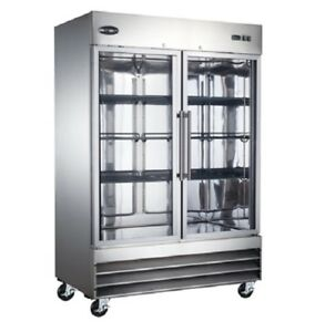Saba S 47fg Commercial Reach in Swing Glass Door Freezer