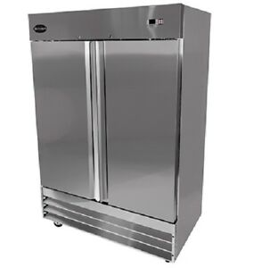 Saba S 47f Commercial Reach in Solid Swing Door Freezer