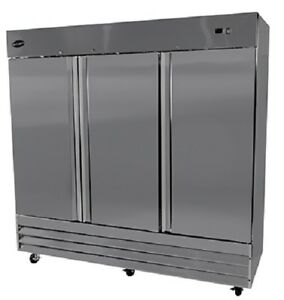 Saba S 72f Commercial Reach in Solid Swing Door Freezer