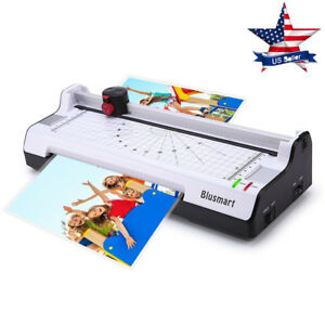 3 In 1 Hot Cold Laminator Machine Fast Warm up Paper Jam Prevention white Us