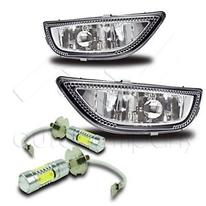 For 2001 2002 Corolla Replacement Fog Lights W High Power Cob Led Bulbs Clear
