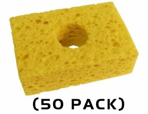 Thermaltronics Spg 50 Yellow Sponge 3 2 X 2 1 50 Pack Interchangeable For