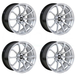 4 new 18 Vmr V701 Wheels 18x8 5 18x9 5 5x112 45 45 Hyper Silver Staggered Rims