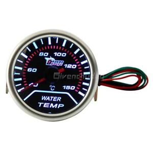 Digital 52mm 2 Led Auto Car Water Temp Gauge Temperature Meter With Sensor