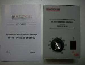New Old Stock Baldor Abb Bc139cn3000a58 Dc Control 208 230v 3 4 Hp