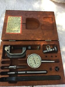 Lufkin Universal Dial Test Indicator Set W Wooden Case 399a 299a Priced Right