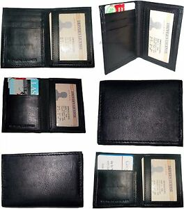 Lot Of 6 New Slim Business Credit Card Id Card Case Black 4 Card Holder I