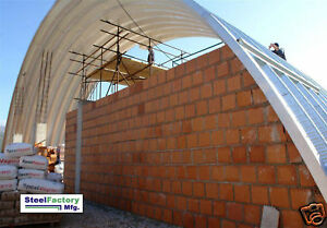 Steel Metal Arch Roof Quonset 42x60x17 Construction And Equipment Storage Cover