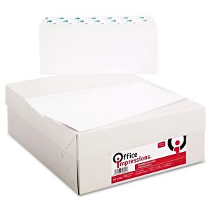 Office Impressions 10 Peel Seal Business Envelopes White 500 box Office School
