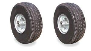 Set Of 2 Import Pneumatic Air Tires 10 X 3 5 Hand Truck Wheel With 5 8 Id
