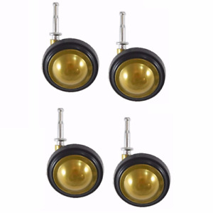 Shepherd Soft Tread Ball Swivel Casters With Brass Finish And 5 16 Wood Stem