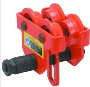 1 Ton Push Beam Trolley Adj To Fit Standard Or Wide Flange I beam Track