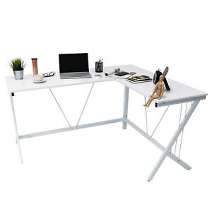 L shape Modern Office Home Computer Desk Laptop Working Corner Table Workstation