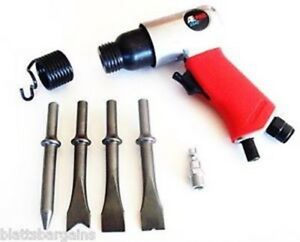 Pneumatic Air Impact Chisel Hammer Tool Kit With Bits