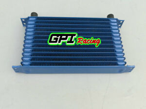 Universal 13 Row An 10an Universal Engine Transmission Oil Cooler Blue
