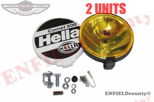 Universal Fit Hella Comet 500 Driving Lamp Yellow Spot Light Pair Cover cad