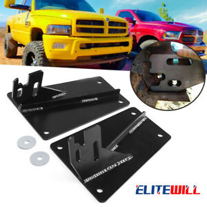 2pcs For Dodge 2nd Gen Bumper Conversion Brackets To Bolt On The 4th Gen Bumper Fits More Than One Vehicle