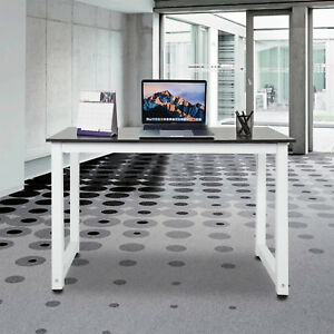 Office Computer Rectangle Desk Pc Laptop Workstation Modern Writing Table Home