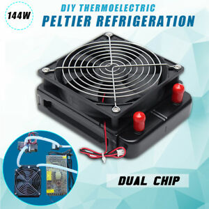 Dual Chip 12v 144w Diy Thermoelectric Peltier Refrigeration Cooler water Cooling