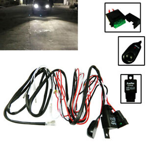 Universal Relay Harness Wire On Off Switch For Led Fog Lights Hid Worklamps