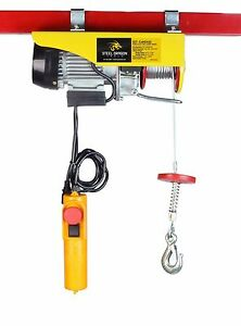 440 Lbs Mini Electric Wire Cable Hoist Overhead Crane Lift With 110 V Motor And