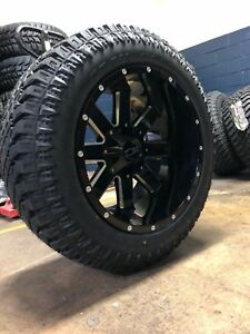 Ion 141 Black Milled 20x12 Wheels 33 Atturo Xt Tire Package Chevy Gmc 6 Lug
