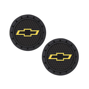 Chevy Logo Auto Cup Holder Coaster 2 Pc Set Item