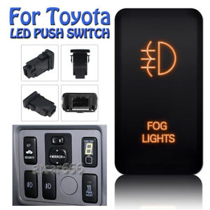 Fog Lights Orange Led Push Switch For Toyota Land Cruiser Hilux Prado Fj Cruiser
