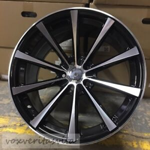 19 Black Cv1 Style Staggered Wheels Rims Fits Lexus Is Is300 Is250 Is350