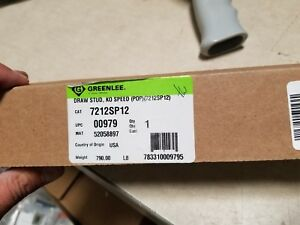 Greenlee Draw Stud 7212sp12 New Fast Usa Shipping