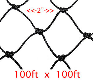 Netting 100ft X 100ft Net Netting For Bird Poultry Avaiary Game Pens 2 Hole 587