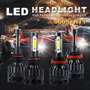 H11 9005 Cree Led Headlight Hi Low Beam For 10 2015 Chevrolet Silverado 1500 C14