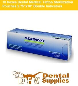 10 Boxes Dental Medical Tattoo Sterilization Pouches 2 75 x10 Double Indicators