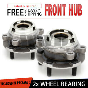 front Pair Wheel Hub Bearing Stud Assembly For 03 07 Nissan Murano 04 09 Quest