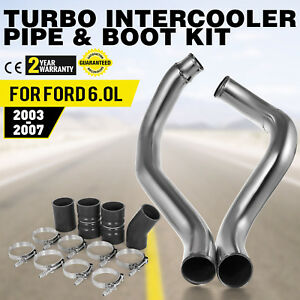 Turbo Intercooler Pipe Boot Kit Silver For 03 07 Ford F250 Diesel Warranty