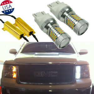 2x Error Free Switchback Drl Turn Signal Light Bulbs For Gmc Sierra 1500 2500 Hd