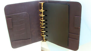 Classic 1 1 8 rings Brown Leather Franklin Covey Leadership Planner Binder