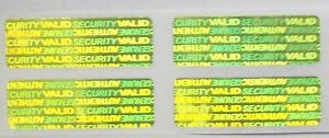 500 Yellow Gold Svag Warranty Protection Security Label Stickers Tamper Evident
