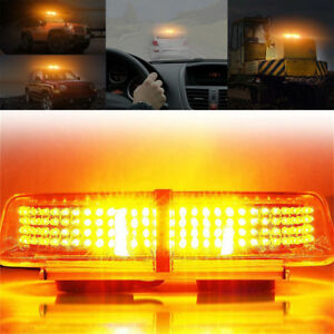 240led Amber Roof Top Emergency Hazard Warn Flash Strobe Light Bar For All Car