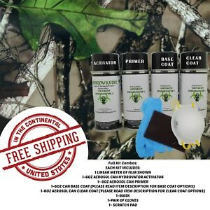 Hydrographic Water Transfer Hydro Dip Full Kit Activator Tree Camo 5 Film