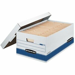 Bankers Box Stor file Medium duty Storage Boxes With Lift off Lid Legal 12 Pac