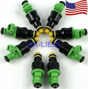 8pcs 42lb 440cc Ev1 Fuel Injectors Of Gm Lt1 Ls1 Ls6 Ford Mustang Sohc Dohc