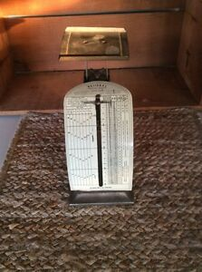 Vintage National Postal Scale Foreign Letters Pelouze Mfg Chicago