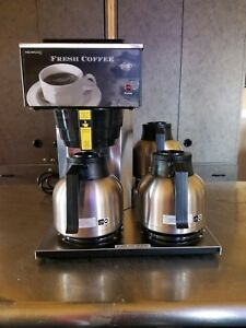 Newco Commercial Coffee Maker Model Akh 3tc W Airpots Carafes Works Great Clean