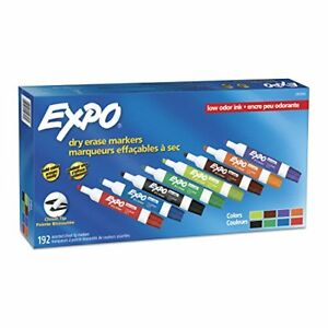 Expo Low Odor Dry Erase Markers Chisel Tip Assorted Colors 192 Count Taxfree