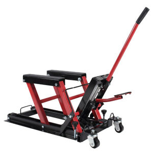 Professional Motorcycle Hydraulic Lift Stand Garage Repair 1500 Lb Easy Use New