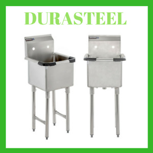 Compartment Stainless Steel Utility Preparation Prep Nsf Sink 15 X 15 Tub Size