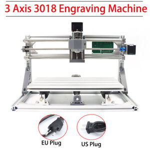 Diy 3axis 3018 Grbl Control Mini Cnc Router Milling Wood Engraving Machine Print